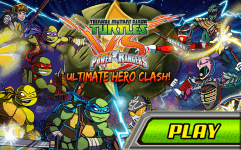 teenage mutant ninja turtles vs power rangers ultimate hero clash
